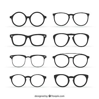 Sammlung von Retrobrille