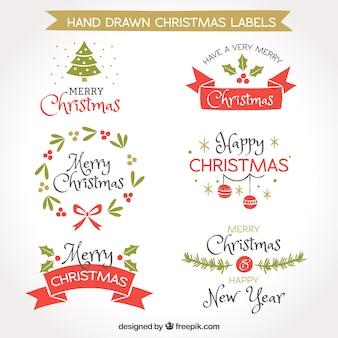 Sammlung von Vintage Christmas Aufkleber