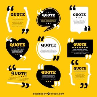 Sammlung von Vintage-Stil Zitat Vorlage