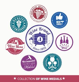 Sammlung von Wein mrdal