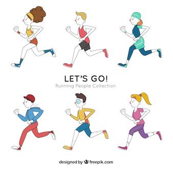 Satz von handgezeichneten Läufern