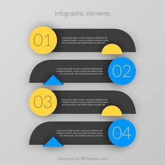 Satz von infografischen Elementen