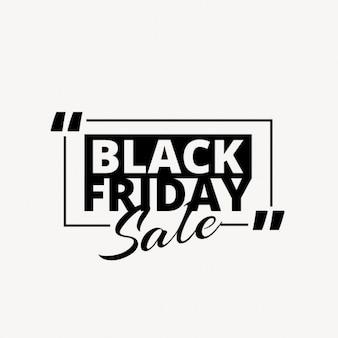 Sauber Black Friday Werbetext in schwarzer Farbe