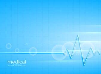 Saubere blaue medizinische Vektor-Hintergrund-Design