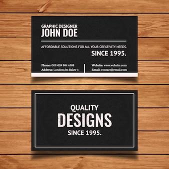 Saubere Typografie Visitenkarten Vorlage