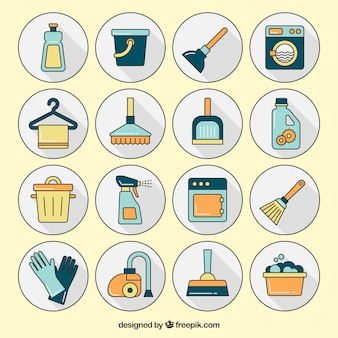 Sauberkeit Symbole