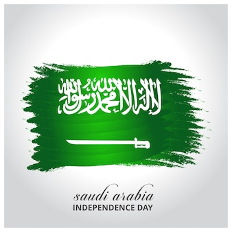 Saudi-Arabien Unabhängigkeitstag Abstrakt glühende Flagge