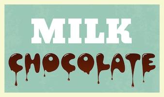 Schokolade Hintergrund-Design
