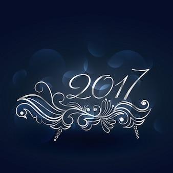 Schöne 2015 neue Jahr Design mit Blumenschmuck