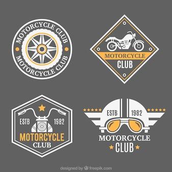 Schöne Abzeichen für Motorräder