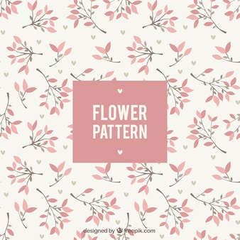 Schöne florale Muster in flaches Design