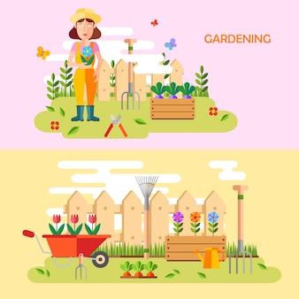 Schöne Gartenarbeit Hintergrund