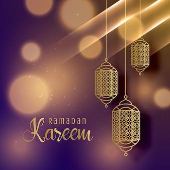 Schöne hängende Lampen für ramadan Kareem Saison Hintergrund