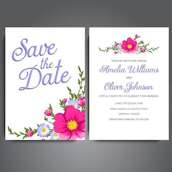 Schöne Hochzeitskarte