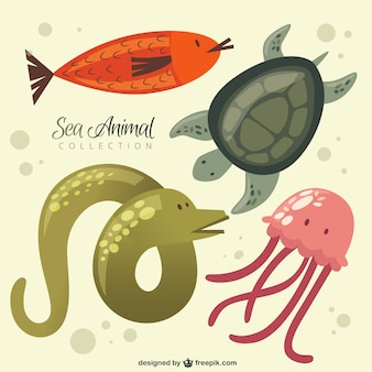 Schöne Meer Tiersammlung