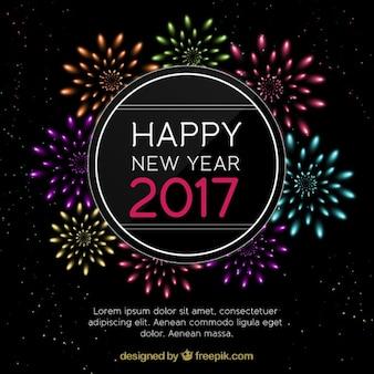 Schöne neue Jahr Feuerwerk Hintergrund