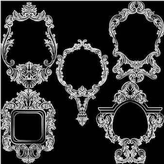 Schöne ornamentale Rahmen Sammlung