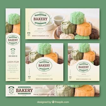 Schöne Reihe von Bäckereibanner