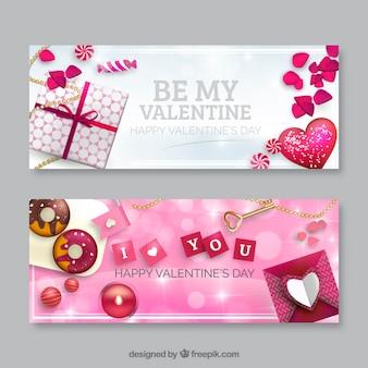 Schöne Valentinstag-Banner