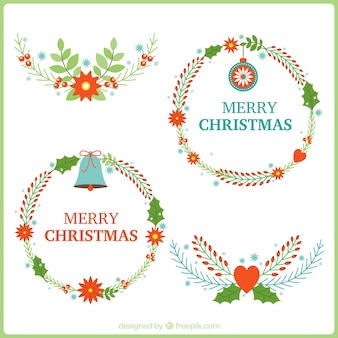 Schöne Weihnachten Kränze und Blumensträuße