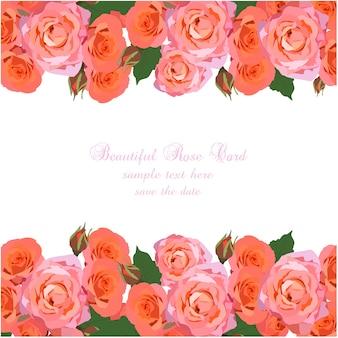 Schöner Rosenkartenentwurf