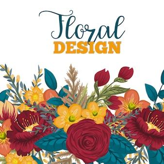 Schönes Blumenmuster. Vektor-Illustration