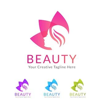 Schönheitssalon-Logo mit Blume