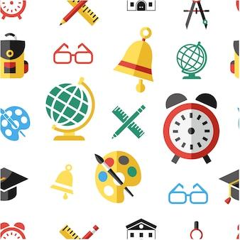 Schule Elemente Muster Hintergrund