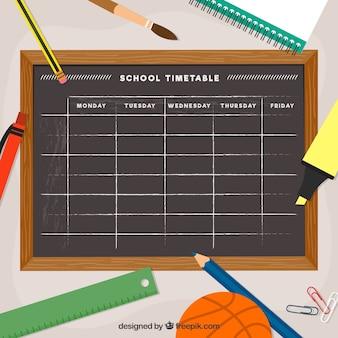 Schulzeitplan Vorlage Tafel Stil