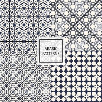 Schwarz arabische Muster