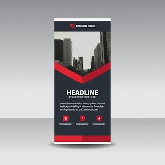Schwarz Rot kreative Roll up Banner-Vorlage