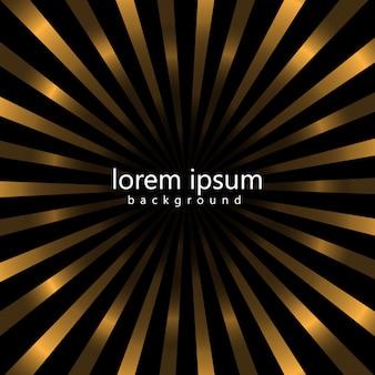 Schwarz und Gold Streifen Hintergrund Design