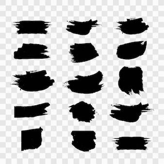 Schwarze Grunge-Set