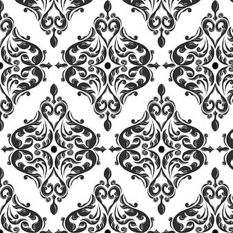 Schwarze ornamentale Muster Hintergrund