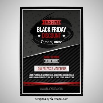 Schwarzer Freitag Poster mit modernem Stil