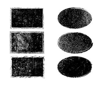 Schwarzer Lackrahmen Sammlung