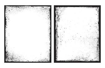 Schwarzer Rahmen Grunge Textur