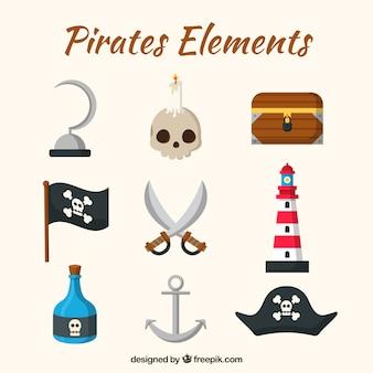 Schwerter und Piratenelemente