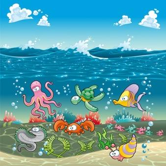 Sealife Hintergrund-Design