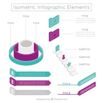 Set isometrische Elemente für Infografiken