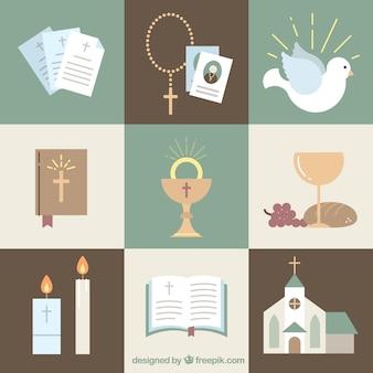 Set Religionen Simbol