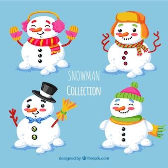 Set schöne Schneemänner