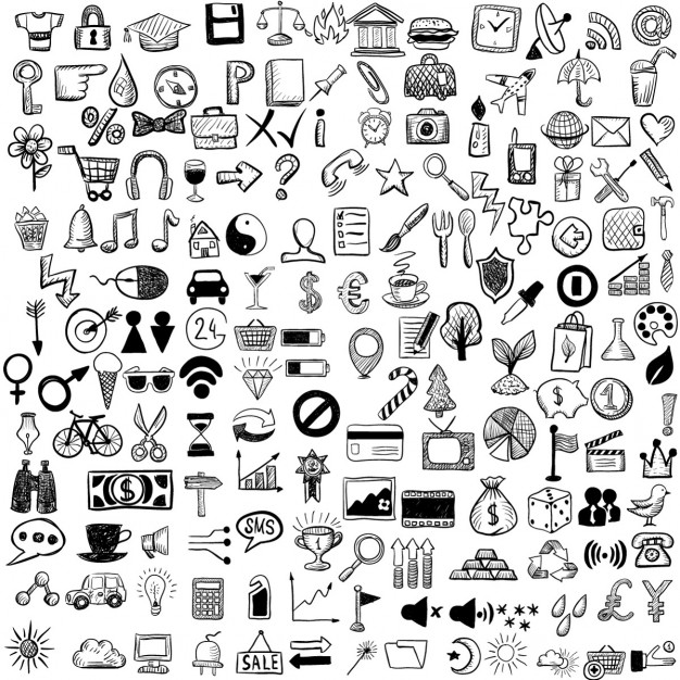 Set Skizze Icons