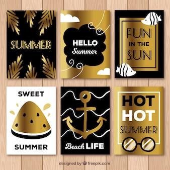 Set Sommergoldkarten