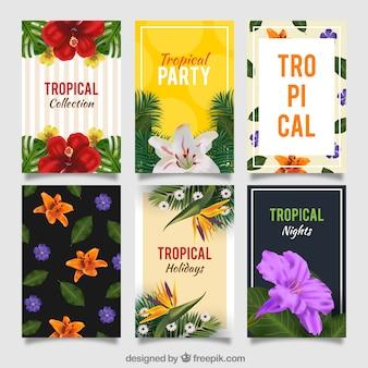 Set tropische Party Einladungen