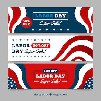 Set von abstrakten Arbeitstag Banner