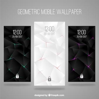 Set von abstrakten eleganten Tapeten für Handy
