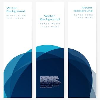 Set von abstrakten Vorlage Banner