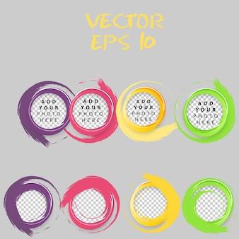 Set von Farbkreisen.