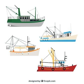 Set von Fischerbooten